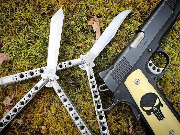 Benchmade - On a walkabout. #bm43 #bm47 #1911 #kimber #balisong #benchmade