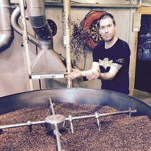 COFFEEUFEEL - My Chilean friend roasting another batch of Cuban beans for me. #havanacoffee