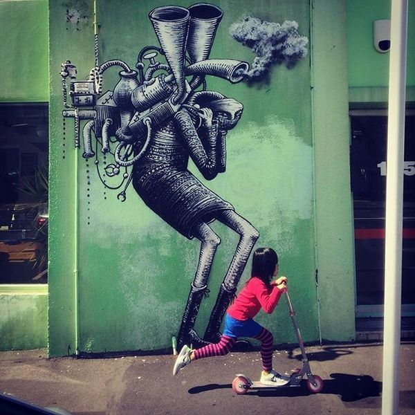 COFFEEUFEEL - Fresh spore from English artist, Phlegm, on the side of Havana Coffee Works on Tory Street in Wellington. Photo by #brucemahalski Art by #phlegm_art Thanks...
