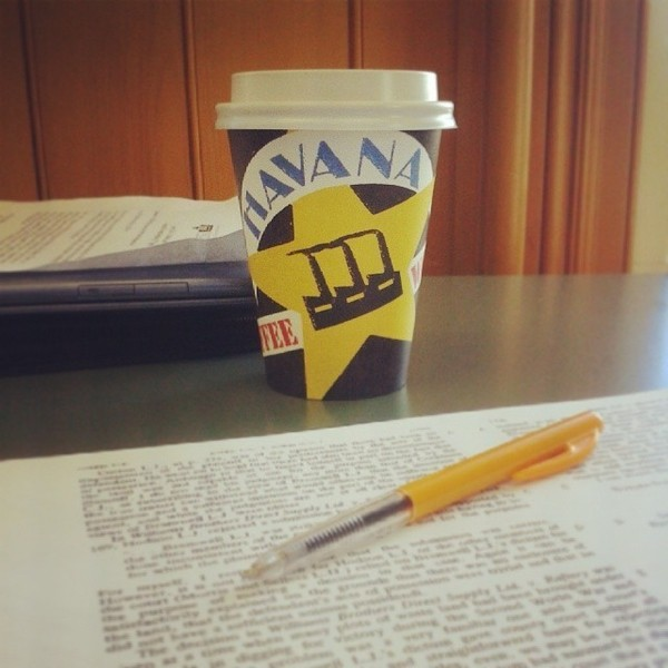 COFFEEUFEEL - That awful moment when the coffee cup is empty :( #coffeeaddict #havanacoffee #study #lawschool